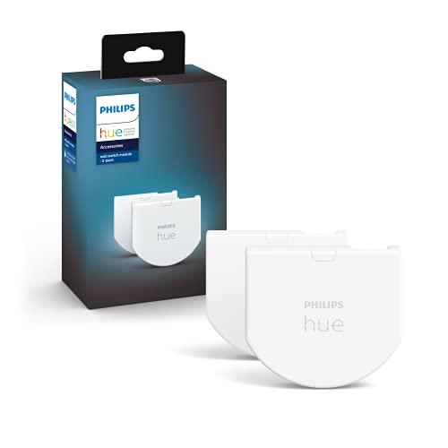 Philips Hue Wall Switch Module, 2 Moduli Interruttori a Parete, Controllo Illuminazione Smart, Bianco