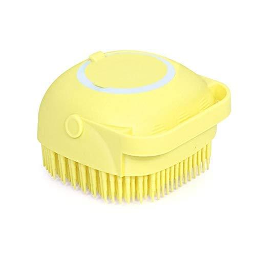 PUTAOYOU Cepillo de baño suave de silicona con dispensador de jabón, limpieza exfoliante reutilizable, limpieza de cepillo suave, cepillo del cuerpo de masaje, suavizas de celulitis, ralentiza el enve
