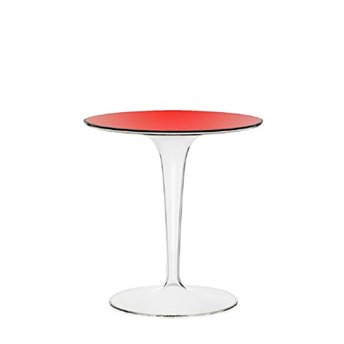 Kartell Tip Top, bamboe modern 48 x 50 x 48 cm rood transparant