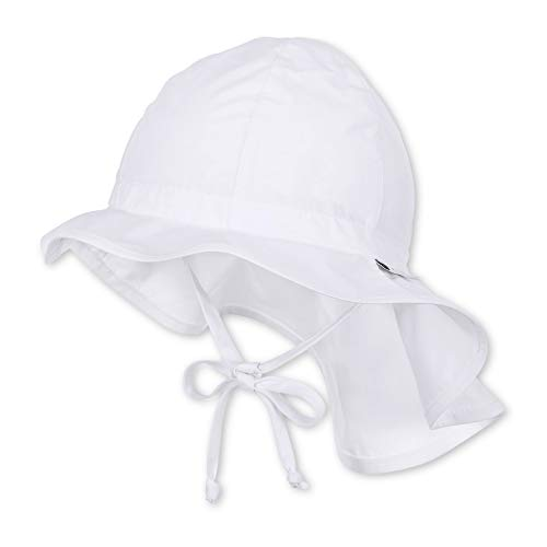 Sterntaler Unisex Flapper mit Bindebändern und Nackenschutz, Alter: ab 6-9 Monate, Größe: 45, Weiß