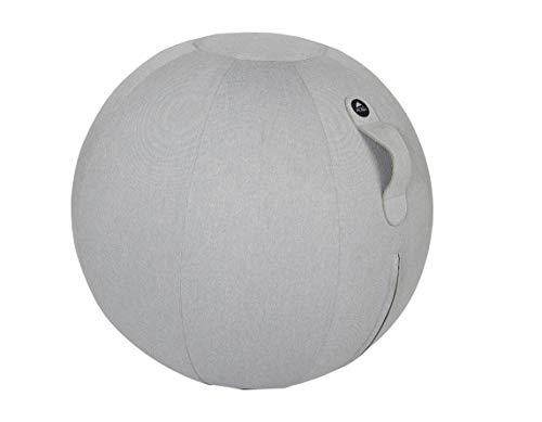 ALBA MHBALL G ergonomischer Sitzball, PVC/Polyester, hellgrau, mittel