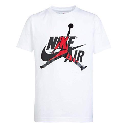 Nike Air Jordan Big Boys Short-Sleeve Jumpman T-Shirt Jordan (Medium, White)