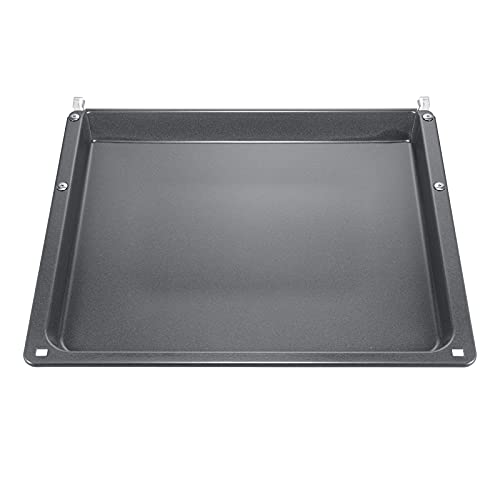 Siemens HZ541000 / Plaque de cuisson universelle pour chariot de cuisson / émaillée / 40 × 45,5 × 3 cm (L × l × H) / Passe au lave-vaisselle / Robuste / résistant aux rayures / gris foncé