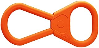 SodaPup - Natural Rubber Pull Tab Tug Toy - Dog Tug Toy - Orange - Made in USA