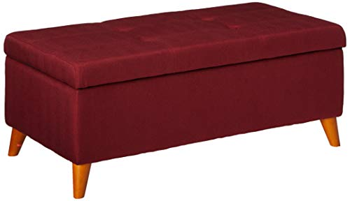 Christopher Knight Home Harper Fabric Storage Ottoman Red