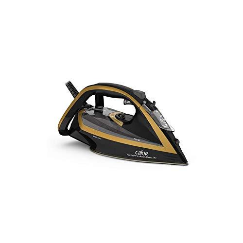 Calor FV5696C0 Turbo Pro - Plancha de planchado anticalco (3000 W), color negro y dorado