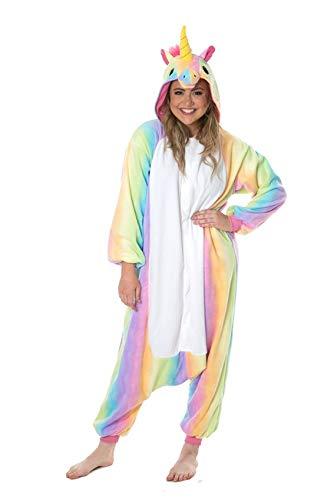 Onesie World - Pijama unisex con diseño de unicornio y unicornio despojado para adultos, ideal para Halloween, carnaval