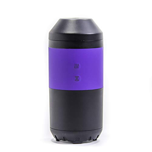 ZAQ Tour Essential Oil Litemist Aromatherapy Travel Car Diffuser, Black/Purple, Black/White
