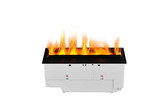 DIMPLEX – Inserto per camino elettrico Nuova Cassetta 400/600 LED – Nebulizzazione ad acqua – Effetto fiamma 3D Optimyst – Copertura in alluminio – Telecomando incluso