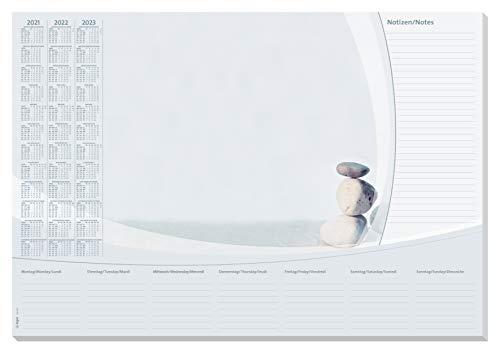 Sigel HO370 Papier-Schreibunterlage, ca. DIN A2, mit 3-Jahres-Kalender 2021-2023 und Wochenplan, 30 Blatt, in nachhaltiger Verpackung SY502 design harmony