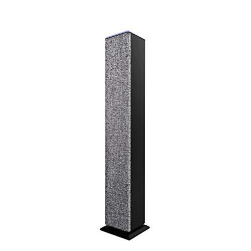 Energy Sistem Tower 2 Style Torre de Sonido con Bluetooth Bangkok UK Version (BT, 25 W, USB/MicroSD Reproductor de MP3, Radio FM, línea de Entrada) Gris