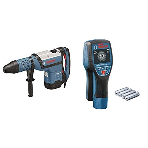 Bosch Professional Martillo perforador combinado GBH 12-52 DV + Bosch Professional Detector de pared D-tect 120