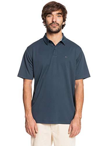 Quiksilver Waterman Men's Collared Shirt, Midnight Navy Water Polo 2, XXL