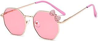 Xingxing - xingxing Gafas de sol de moda para niñas, marco de metal, gafas para niños, gafas para exteriores, gafas de sol de estilo lindo (nombre del color: B)