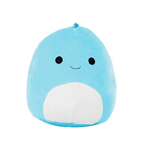 3D Dinosaur Soft Lumbar Juguete de peluche1Pcs Precioso Pillow Back Cushion Plush Stuffed para Mujeres Plush Soft Pillow Send Girlfriend Toys Niños Regalo (Azul, 25cm)