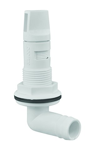 attwood 4125-7 Adjustable Polypropylene Live Well Aerator Spray Head for 3/4-Inch Hose, white