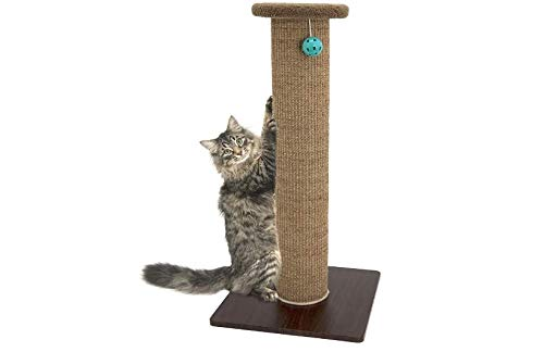 "Pro&Family Scratch Perch for Cats, 32"" H. Best Cat Scratcher.Scratching Pad.Durable Scratching Post.Texture Surface Kitty Post"