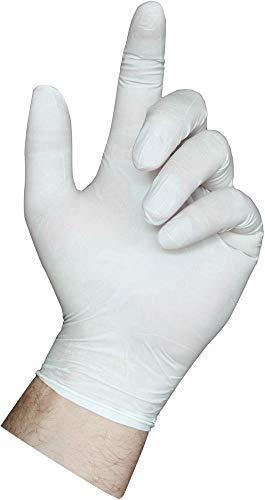 Semperguard 813777933/3000001281 Latex Comfort, Einmalschutz und Untersuchungshandschuh aus Naturlatex, puderfrei, Größe S, 6-7, Naturweiß (100-er Pack)