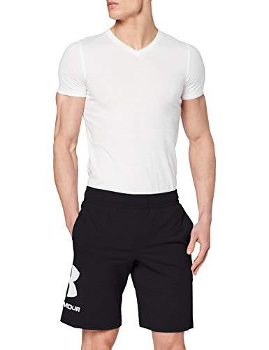 Under Armour Sportstyle bomull logo shorts, löparshorts gjorda av andningsbart material, träningsshorts med ultralätt design män svart/vit XL