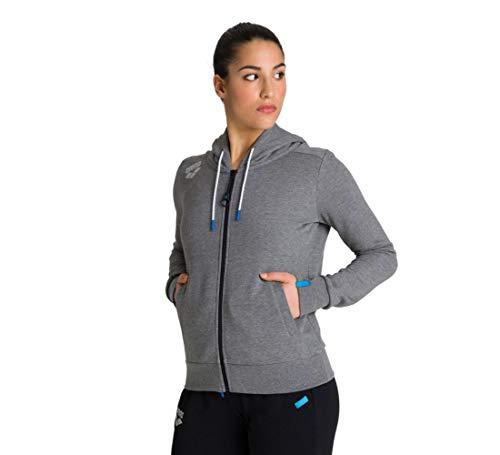 ARENA Chaqueta deportiva con capucha para mujer, Mujer, Chaqueta con capucha, 003849, Gris oscuro, large