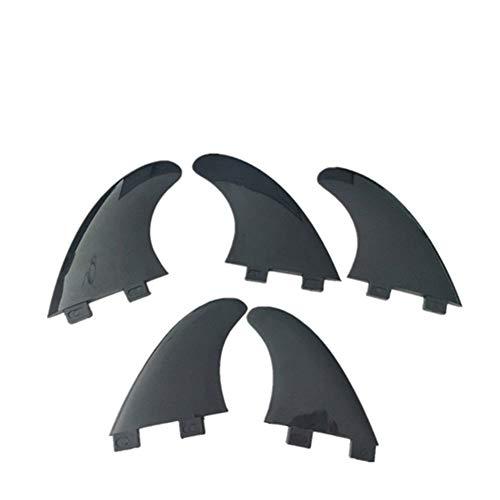 Fins surfen Surfen TPU Soft-Fins GL/GX / G5 / G5 + GX Black Fin Twin Fin Set/Tri Fin Set/Tri-Quad Fin Set 2/3/5 PC pro Satz Kapitän Ende Surfen Zwecke (Color : FCS G5 with GX 5pcs)