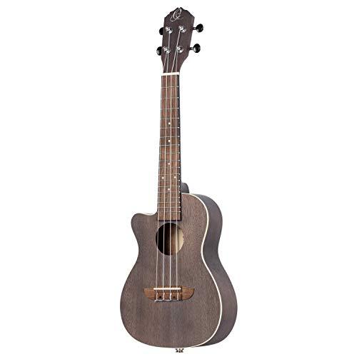 Ortega Guitars Earth Serie Konzert-Ukulele Lefty - coal black (RUCOAL-CE-L)