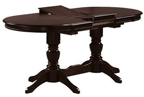 Casa Padrino Jugendstil Esstisch Dunkelbraun 150-185 x 90 x H. 75 cm - Ovaler ausziehbarer Massivholz Küchentisch - Esszimmer Möbel