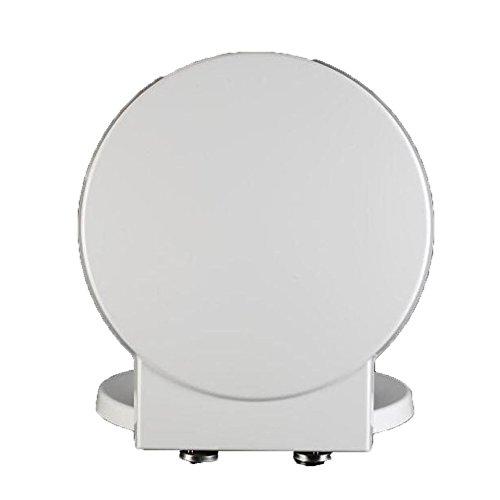 ANHPI Universal WC-Sitz Rund Verlangsamen Leise Verlangsamen Antibakteriell Verdickter Toilettendeckel,White-41.1-45.7 * 40CM