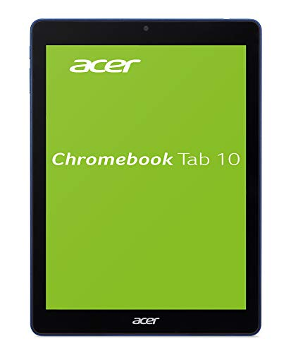 Acer Chromebook Tab 10 D651N-K68N 24,6 cm (9,7 Zoll QHD IPS Multi-Touch) Chrome Tablet (Rockchip RK3399 Six-Core, 4GB RAM, 32GB eMMC, OP1 Prozessor Graphics, Chrome OS) schwarz/blau