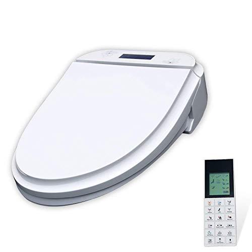 KaiKai Automatische intelligente elektrische Bidet WC-Sitz mit Absenkautomatik Wireless-Panel P04 Wassertemperatur erhitzter Sitzordnung, LCD-Bildschirm, Weiss