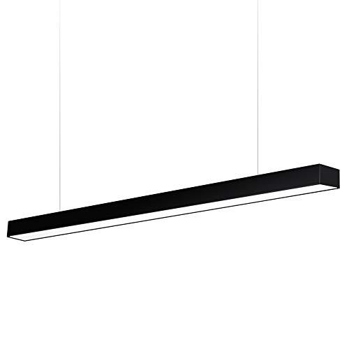 Lámpara colgante MOD SUSPEND, 30W, 150cm, negro, Blanco neutro