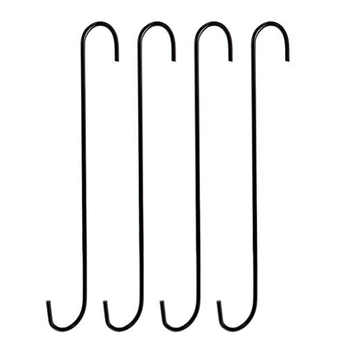Cabilock 4 Ganchos de Metal Colgantes S Ganchos de Metal en Forma de S Gancho Resistente para Comedero de Pájaros Utensilios de Cocina Maceta Utensilios de Plantas Toallas
