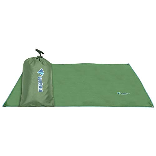 WWTTE Outdoor Oxford Cloth Camping Mat Tent Blanket Sun Pergola Shelter Awning Picnic Mattress Camping Cushion, XS Size: 115x220cm, Random Color Delivery 2E (Color : Color1)