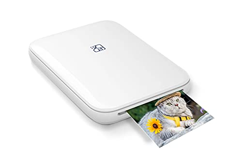MT53 mini stampante tascabile Bluetooth, stampa magnifiche foto a colori su card sticker ZINK 51x76 mm (2x3 ) senza costose cartucce! compatibile Android IOS ricarica USB