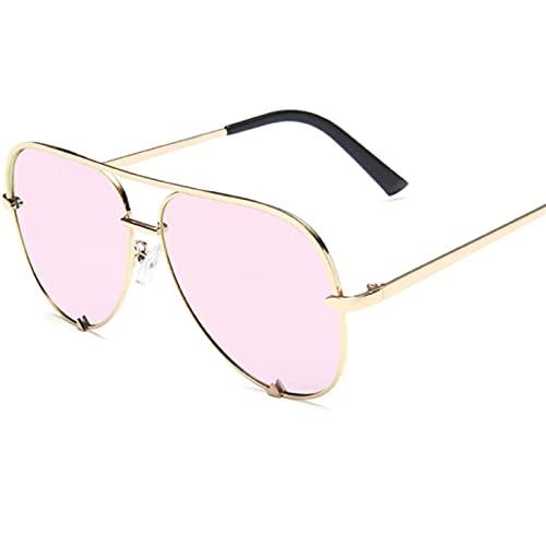 LSLY Gafas de Sol de Aviador de Moda para Mujer con Montura metálica para Hombre
