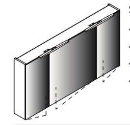 Lanzet spiegelkast L7 120, 3T, Dark Oak