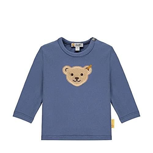 Steiff Longsleeve Camiseta, Bijou Blue, 6 Mes para Bebés
