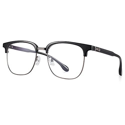 Brillen Blaulichtfilter, Retro-Farbwechsel-Augenrahmenrahmen Strahlenschutzbrille, Silikon-Nasenpads,Bequem und Hautfreundlich,Angenehm zu Tragen füR Studenten, BüRoangestellte,GeschäFtsleute