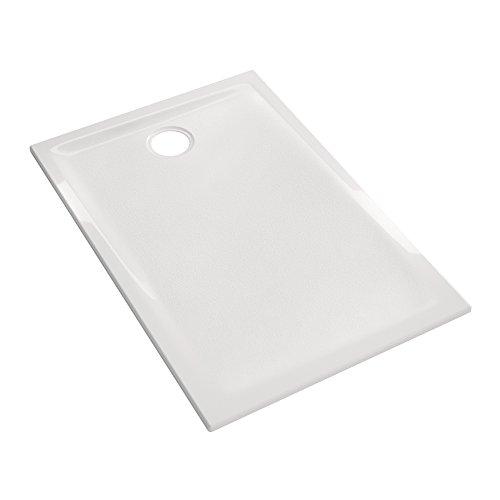 Prima Duschwanne, ultraflach, zum Einbau – 100 x 90 x 4,5 cm – Allia – Weiß – mit AntiGliss-Behandlung PN18