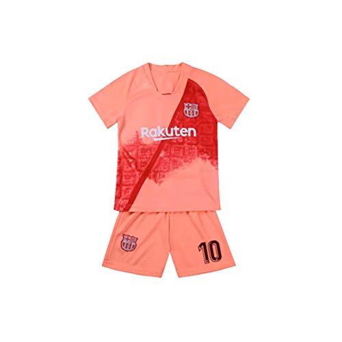 LCHENX-Fútbol Club Barcelona Lionel Messi 10# Rosa Trikots Für Fans Kinder Teenager,Orange,20