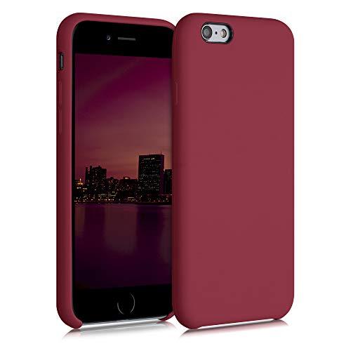 kwmobile Custodia Compatibile con Apple iPhone 6 / 6S - Cover in Silicone TPU - Back Case per Smartphone - Protezione Gommata Rosso rabarbaro