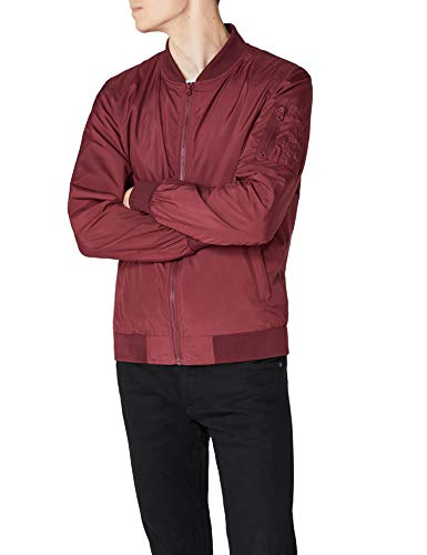 Urban Classics TB1258  Light Bomber Bomberjacke, Rot (burgundy 606), Gr. Medium