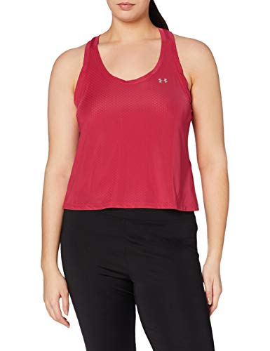 Under Armour Armour Sport Mesh Swing Tank, Tanque Mujer, Rosa (Impulse Pink/Metallic Silver 671), S