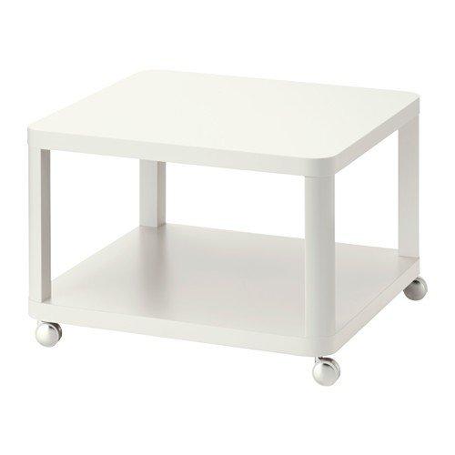 IKEA TINGBY Beistelltisch mit Rollen; in weiß; (64x64cm)