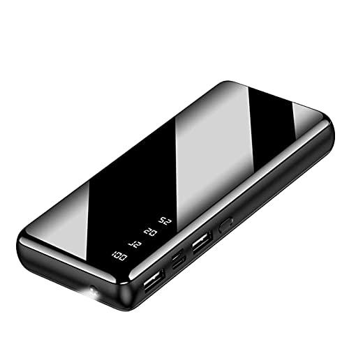 Tcbz Cargador portátil, Banco de energía con Pantalla LED, batería Externa de Gran Capacidad con 5V/2.1A 2 Puertos de Entrada y Salida USB Cargador de teléfono Paquete de batería para iPhone Sa