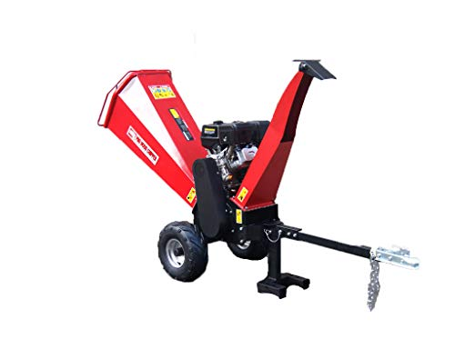 Best Price! 15HP Gasoline Powered Wood Chipper Mulcher, with Electric Start