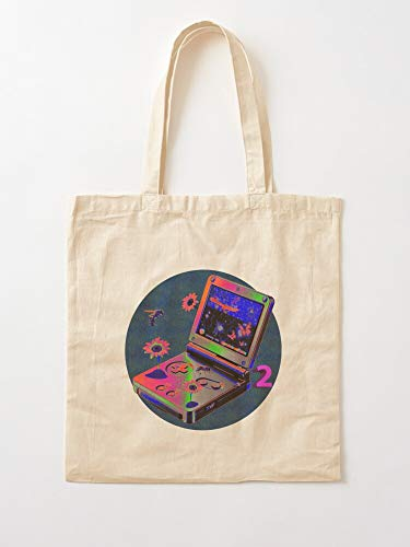 Stars Space Game Rockets Magic Gameboy Retro Games Tote Cotton Very Bag | Bolsas de supermercado de lona Bolsas de mano con asas Bolsas de algodón duraderas