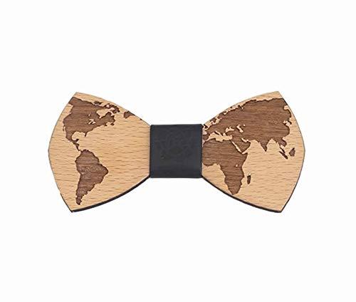Loto Nero Bowtie - Mapa del mundo - Pajarita de madera, pajarita...
