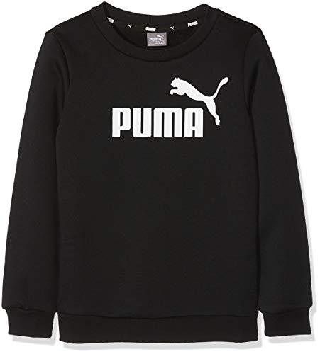PUMA Jungen ESS Logo Crew Sweat FL B Sweatshirt, Cotton Black, 128