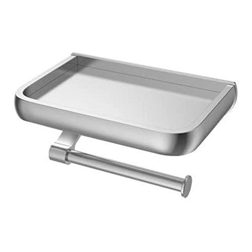 JYJZHX CZHJJJWSYP Metálica del Papel higiénico del Titular Soporte for Rollo con el Estante montado en la Pared for Cuarto de baño, Cocina
